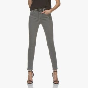 NWT rag & bone High Rise Skinny Coated Rin Gray